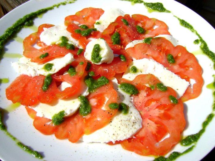 Carpaccio Tomates et Mozzarella