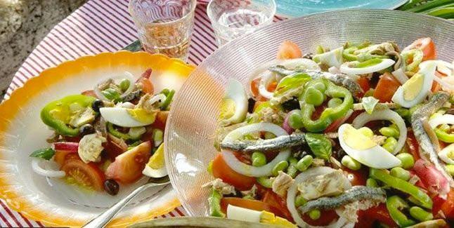 Salade de crevettes et de mangue et vinaigrette l 39 avocatrecettes italiennes recettes italiennes - Antipasti legumes grilles ...