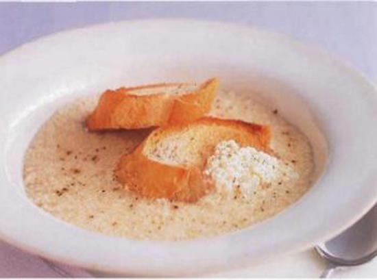 Soupe à l'oeuf et fromage