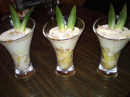 Tiramisu ananas et noix de coco
