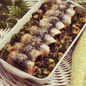 sardine farcie au épinards