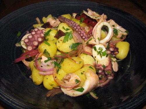 Salade de poulpe au chorizo