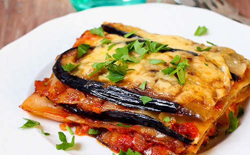 Aubergines façon lasagnes