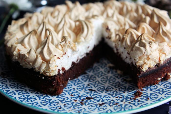 brownie meringue