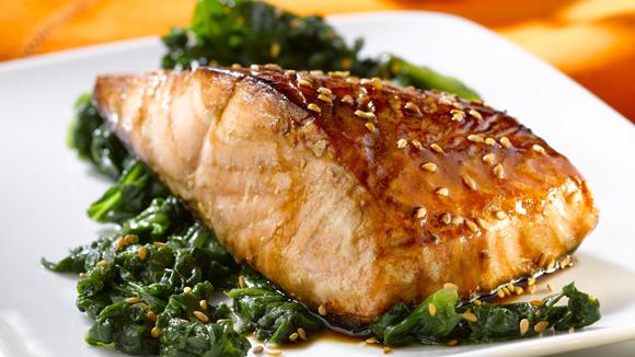 Pav de saumon laqu au s same recettes italiennes - Graines de potimarron grillees a la poele ...