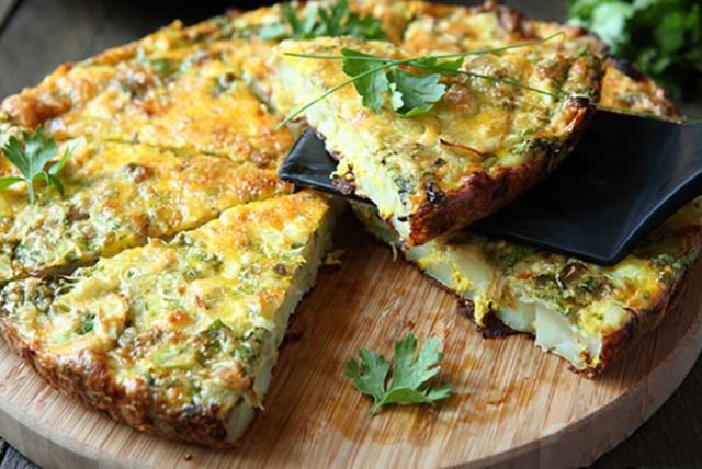 Frittata aux épinards fromage et ricotta