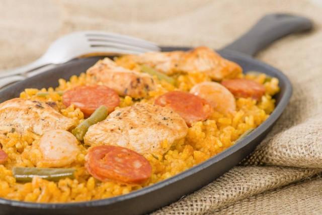 Risotto poulet chorizo