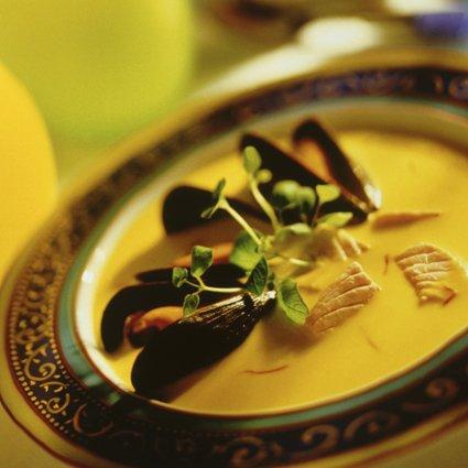 Soupe au moules et pomme de terre