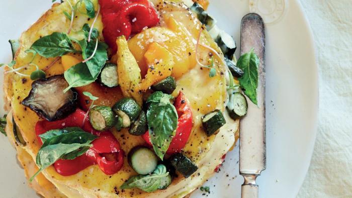 Millefeuille de frittatas de légumes