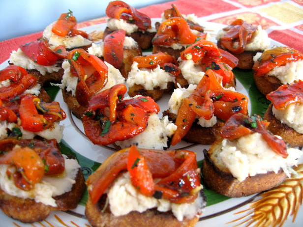 crostini mozzarella et piment