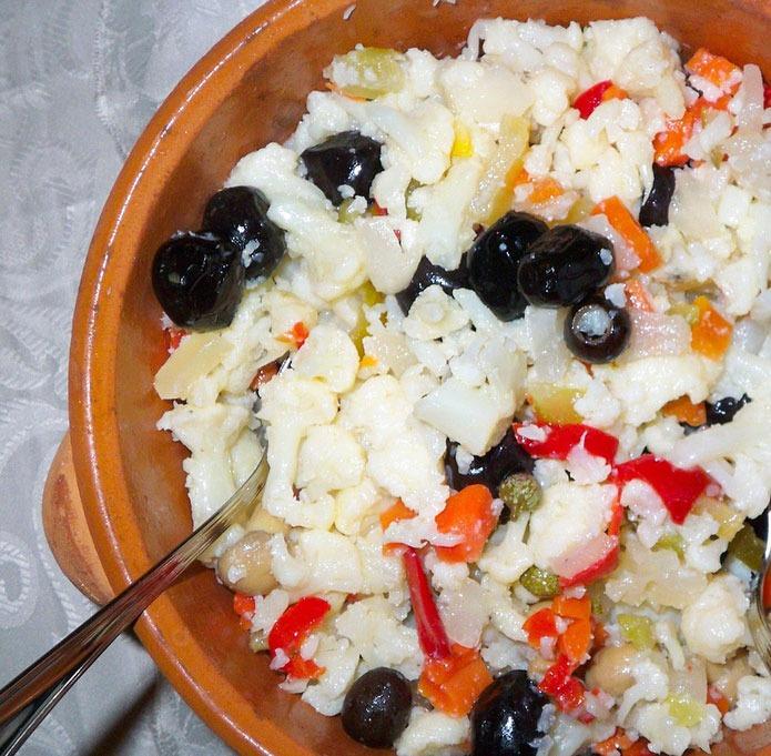 Salade de chou-fleur - Recettes Italiennes