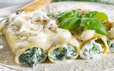 Cannelloni farcis au ricotta et à la saucisse italienne