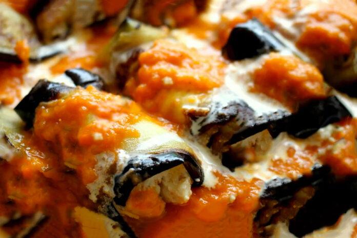 Aubergines au four ail et parmesan