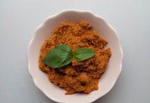 Pesto rosso aux tomates séchées