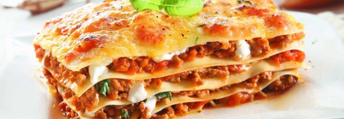 Lasagnes bœuf et mozzarella