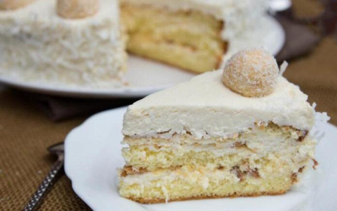 Gâteau au Raffaello