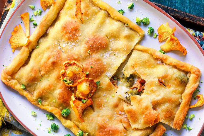 Focaccia farcie aux légumes d'automne et Squacquerone